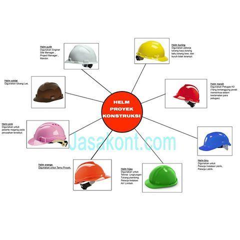 Macam Macam Warna Helm Proyek dan Fungsinya